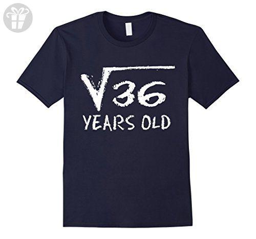 Mens Square Root of 36: 6th Birthday 6 Years Old T-Shirt Medium Navy - Birthday shirts (*Amazon Partner-Link)