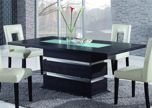 Global Furniture Dg072 Wenge Dining Table Glass Dining Room