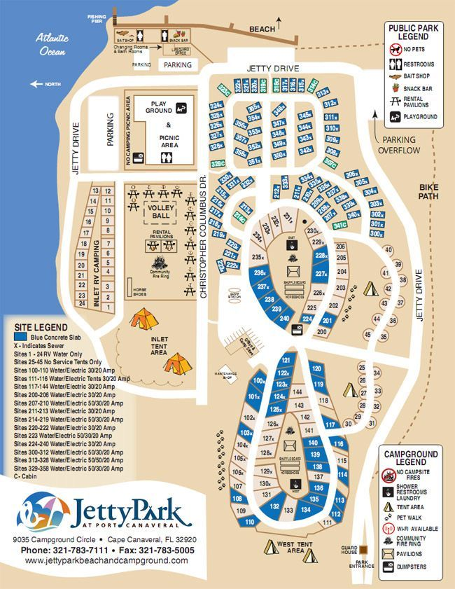 Jetty Park Campground Map Pin by Liz Altschuler on Port Canaveral in 2019 | Dream vacation