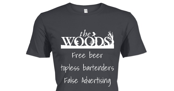 Check out this awesome Woods Bar and Grill shirt!