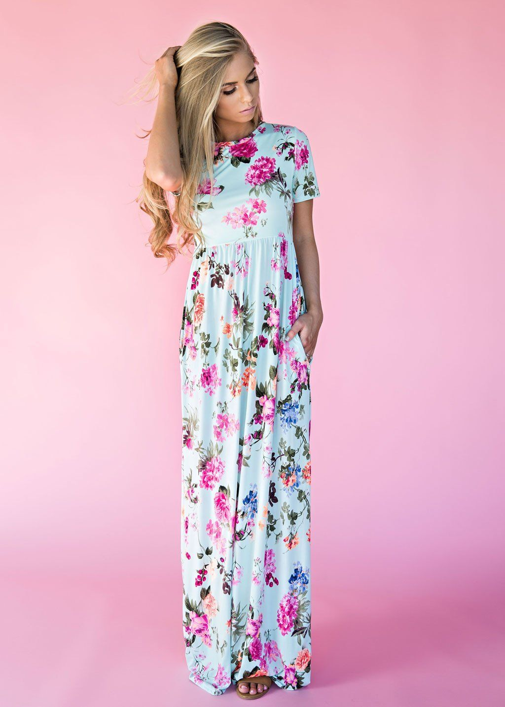 Mint Bethany Floral Maxi Dress, womens fashion, style, fashion, maxi ...