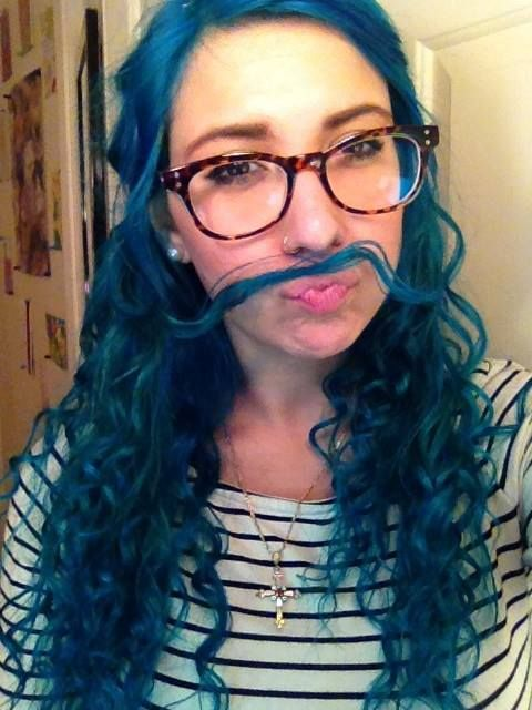 Selfie With The New Blue Hair Mix Of Manic Panic S Atomic