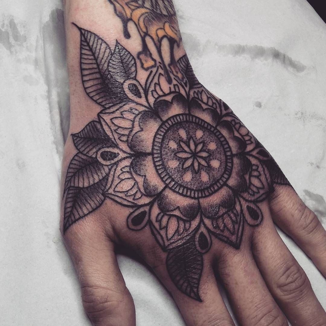 Alex M Krofchak On Instagram Hand Mandala From Today Cheers Dude Handtattoo Handtattoos Tatt Hand Tattoos For Guys Mandala Hand Tattoos Hand Tattoos