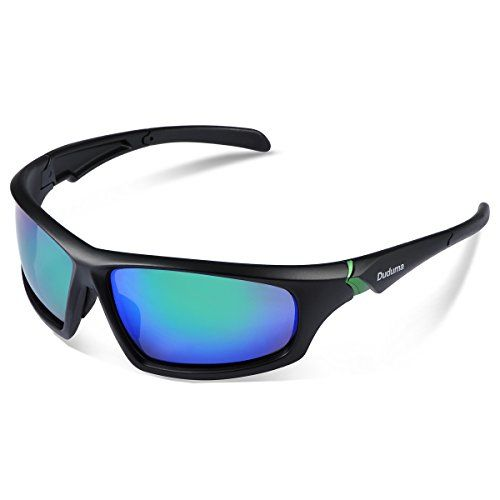 b0752938c9d Duduma Tr601 Polarized Sports Sunglasses for Baseball Cycling Fishing Golf  Superlight Frame 639 Black matte frame with green lens     You can get more  ...
