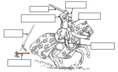 8 FREE ESL knight worksheets