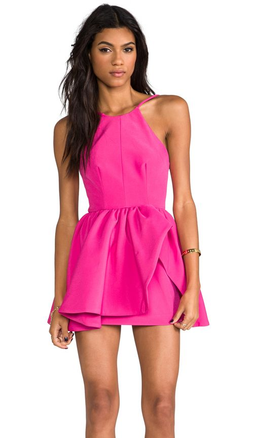 928b203dd38b83 Hot Pink Party dress | fashion | Pinterest | Vestidos, Vestidos ...