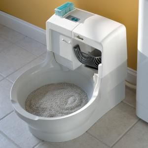 La litière auto nettoyante pour chats - Pour la maison - hammacher.com