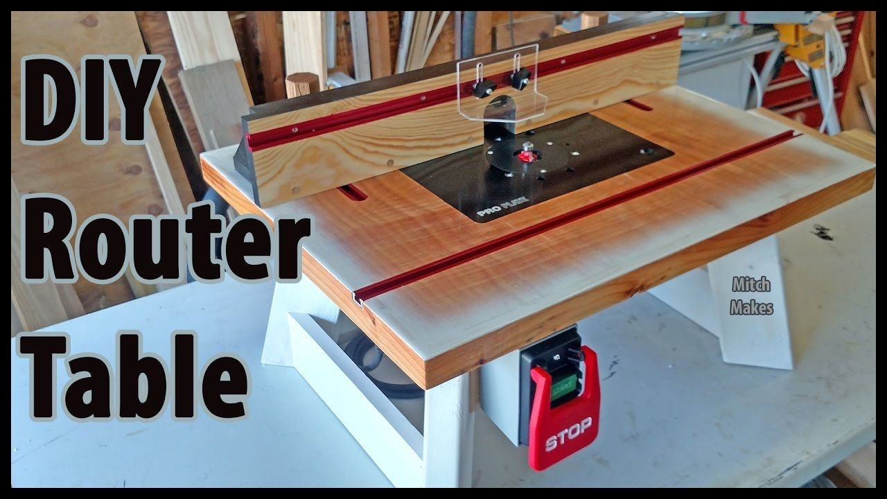 Homemade router table top  I really like this DIY Benchtop Router Table youtube