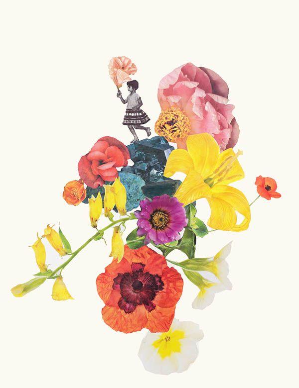 Vintage collage by Clare Celeste #collage #retro #vintage #fleur #flower