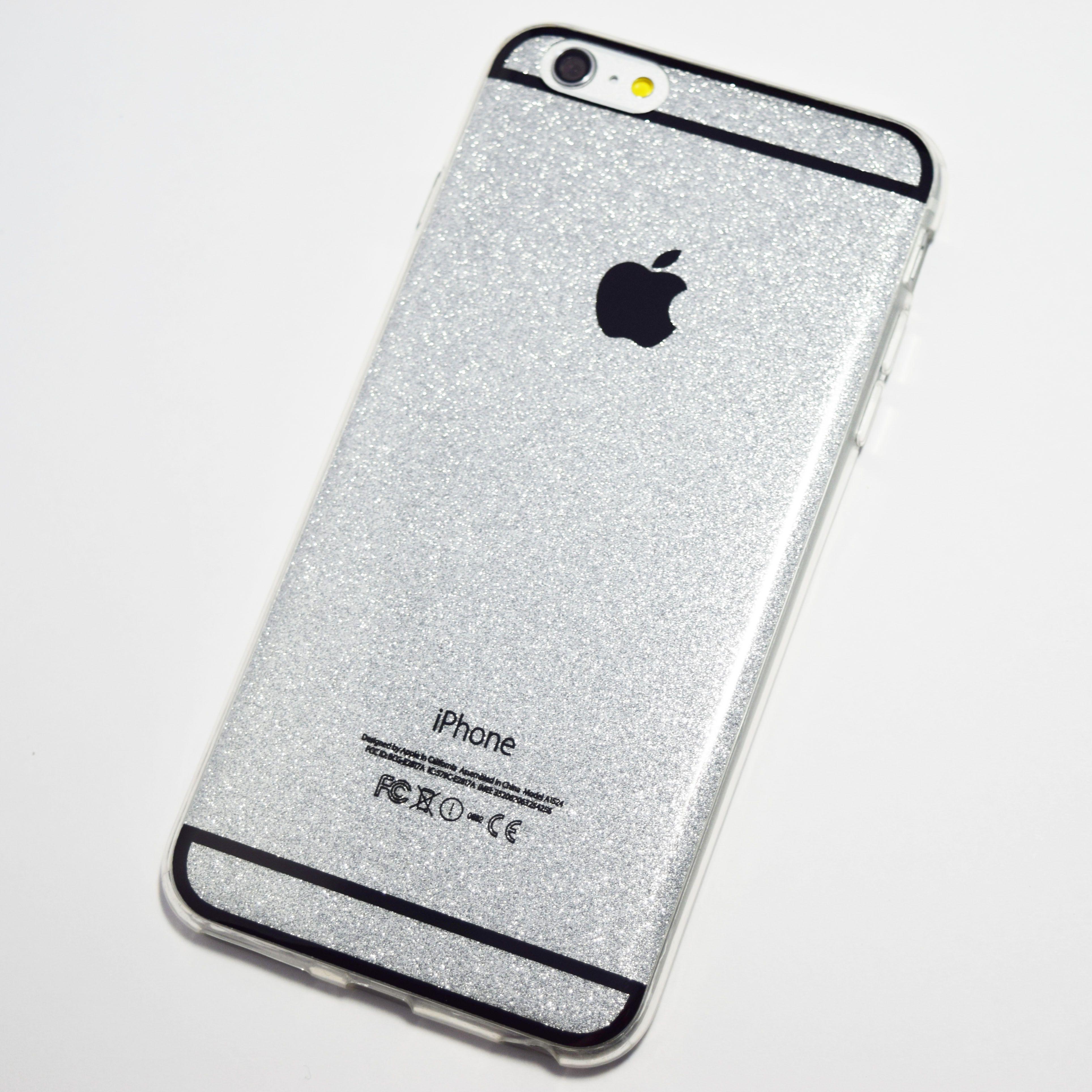 iphone 6 plus glitter case silver