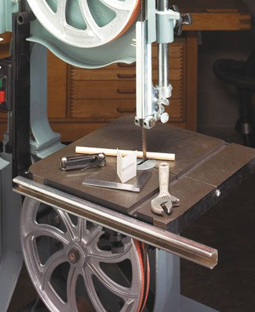 Band Saw Tune Up Woodsmith Plans With Images Bandsaw Woodworking Power Tools Woodworking