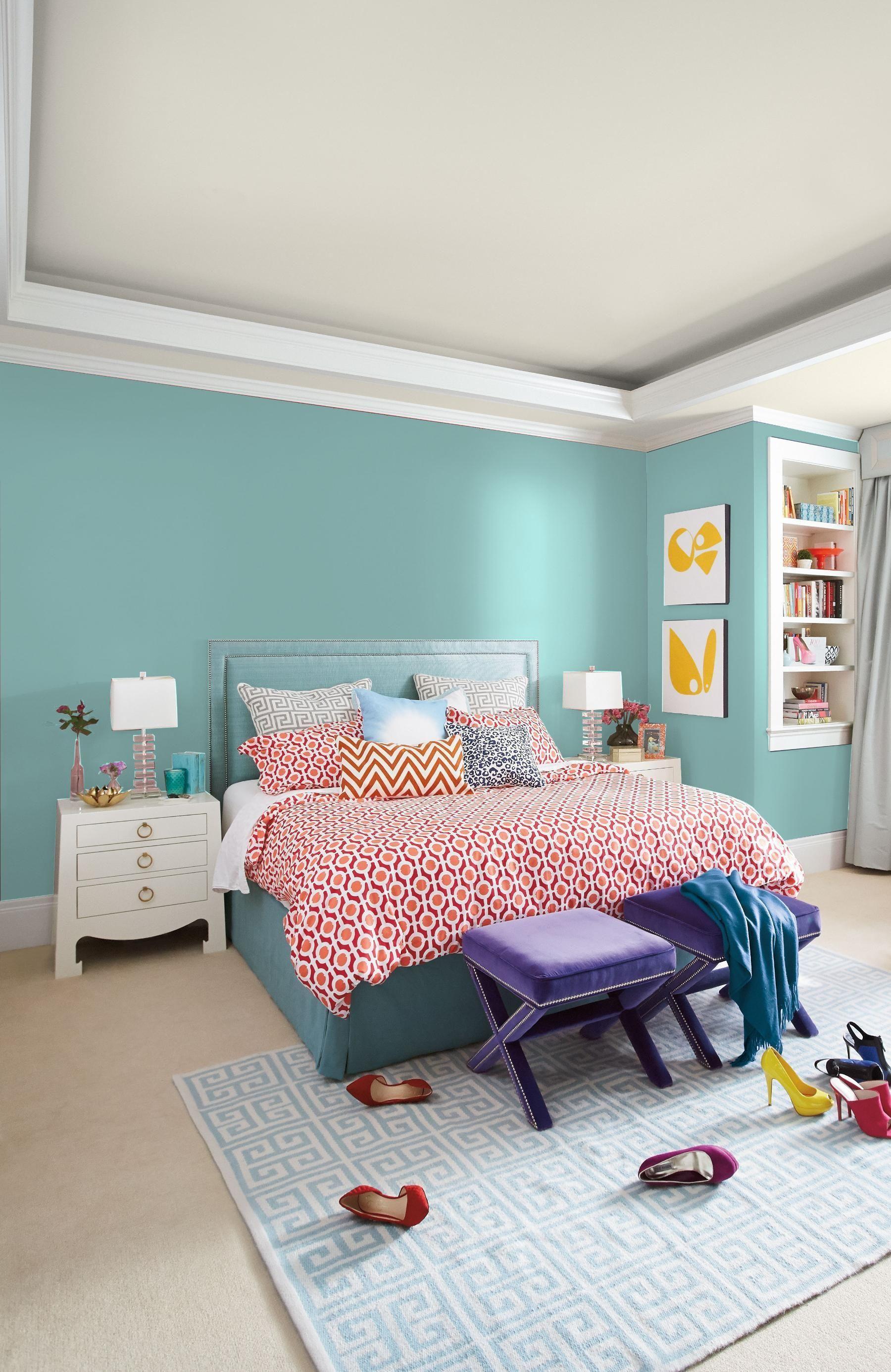 Dutch Boy Turquoise Powder 132 3db Boys Room Colors Dutch Boy Paint Colors Room Color Combination