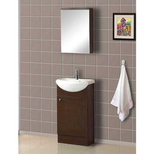 DreamLine 18 In Floor Standing Modern Bathroom Vanity   DRL DLVRB 102
