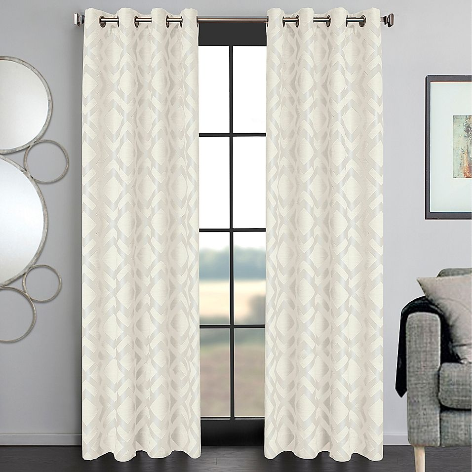 Ryder 108 Grommet Window Curtain Panel In White Panel Curtains Curtains Window Curtains