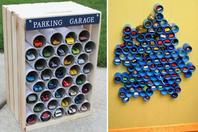 Id es de rangement pour les petites voitures rangement for Idee de rangement pour garage
