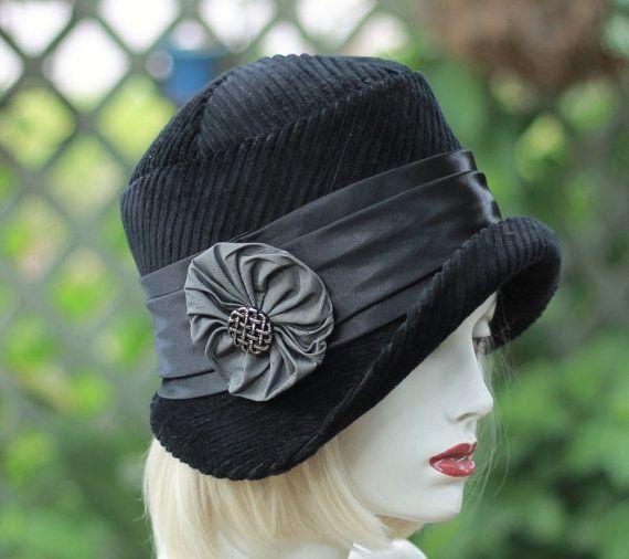 Winter Hat, Warm Hat, Cloche Hat, Downton Abbey Hat, Fall Hat ...