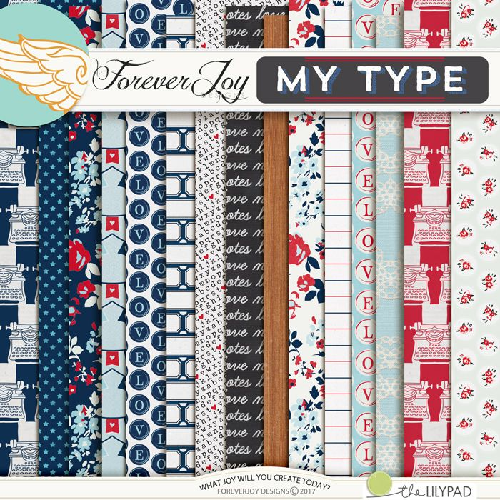 Digital Scrapbooking Kit - MY TYPE Page Kit| ForeverJoy Designs