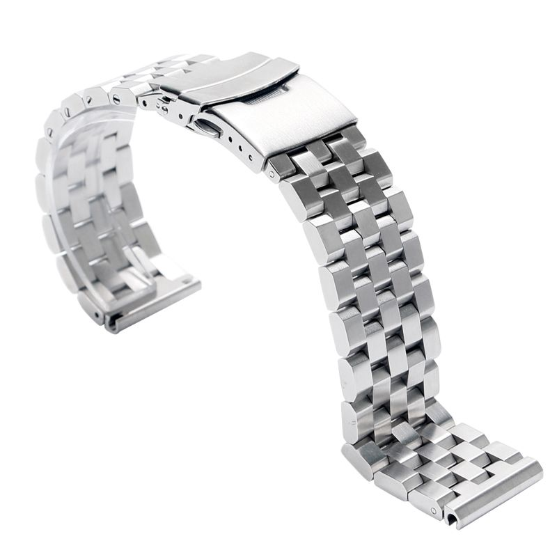 6ee56d370ee Click to Buy    24mm Luxury Silver Stainless Steel Replacement Watch Band  Strap · Cool WatchesWrist ...
