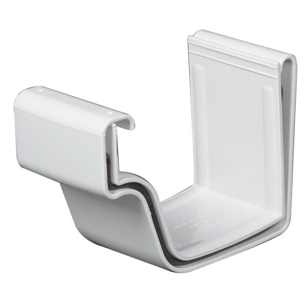 Amerimax Home Products White Vinyl K Style Joiner M0608 The Home Depot White Vinyl Vinyl Pieces Joiner