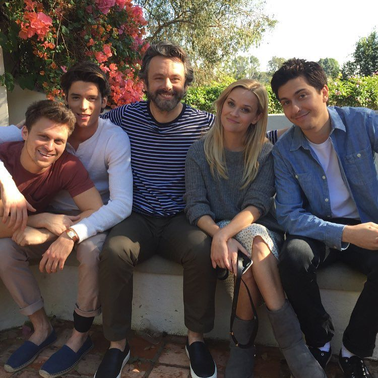 Reese Witherspoon Michael Sheen And Nat Wolff On The Set Of Home