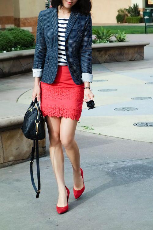 c2df13e520 J.Crew daisy lace mini skirt, bright poppy color, louis vuitton speedy  bandouliere 25 empreinte