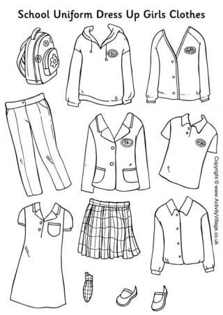 School Uniform Paper Dolls Girls Clothes | Paperdolls | Pinterest ...