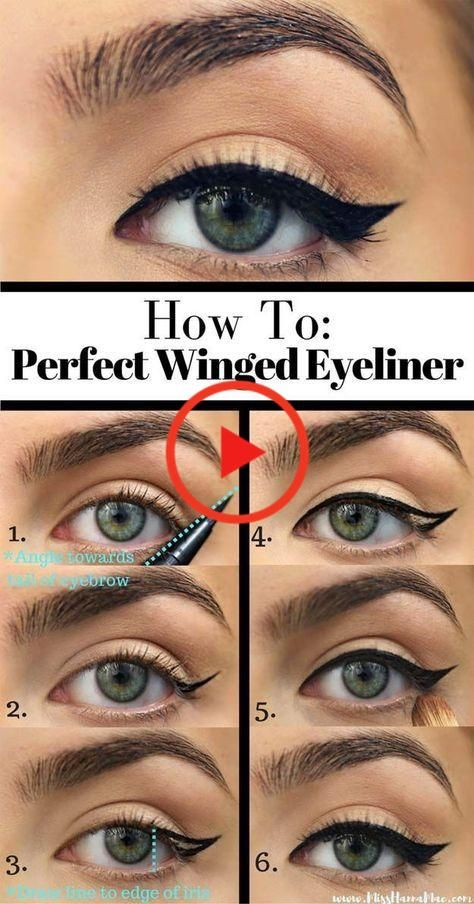 TAMPON EYELINER Application Facile en 2020 | Tutoriel d'eyeliner, Eyeliner, Maquillage yeux