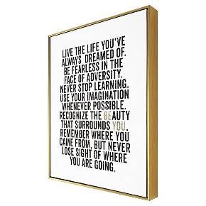 """Be You Framed Canvas 16""""x20"""" - Threshold™ : Target"""