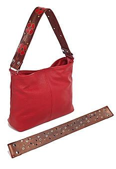 Red Sadie Bag with interchangeable straps!