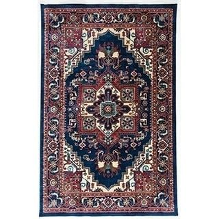 For Antep Rugs Oriental Collection Tebriz Navy Ivory Area Rug 5 X 8 Get Free Shipping At Your Online Home Decor Outlet S