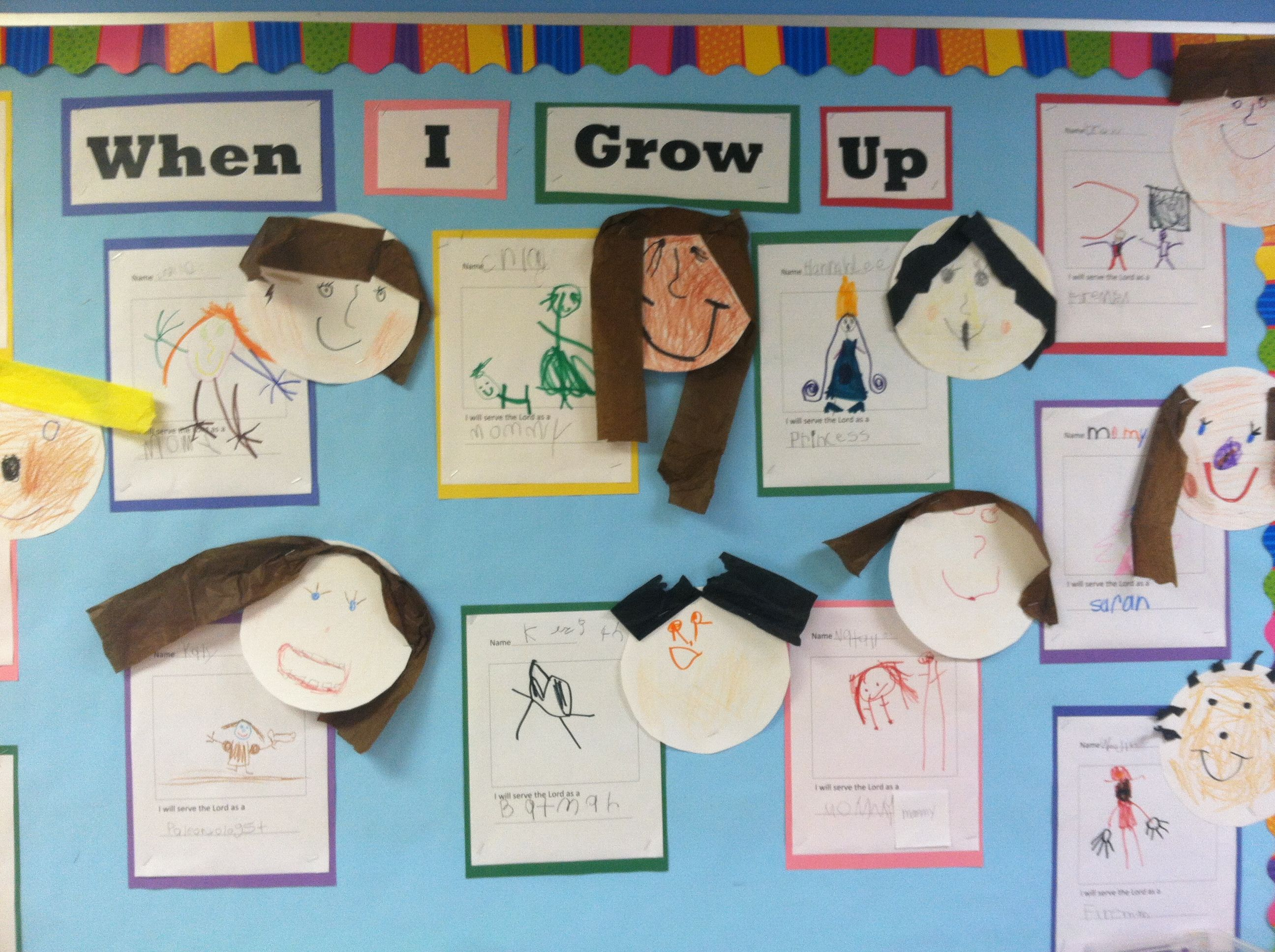 When I Grow Up Bulletin Board By The Wonderful Mrs Amber