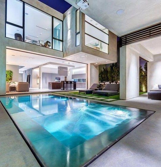 Interior de casa moderna casas en 2019 rvores for Casa moderna vintage
