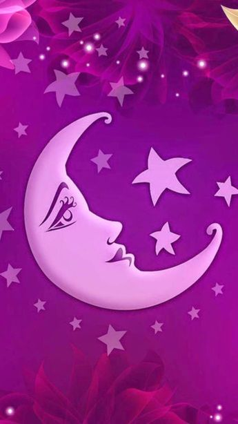 Pink purple moon stars wallpapers backgrounds and lovely images pink purple moon stars thecheapjerseys Choice Image