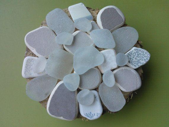 Sea pottery and sea glass mix  Scottish beach pottery   by SewISea