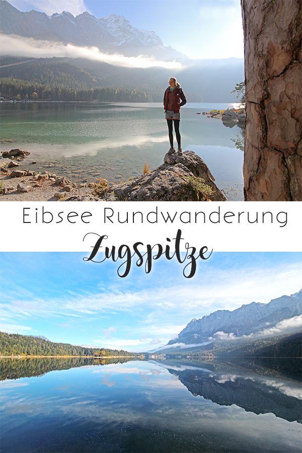 Rundwanderung am Eibsee mit Blick auf die Zugspitze