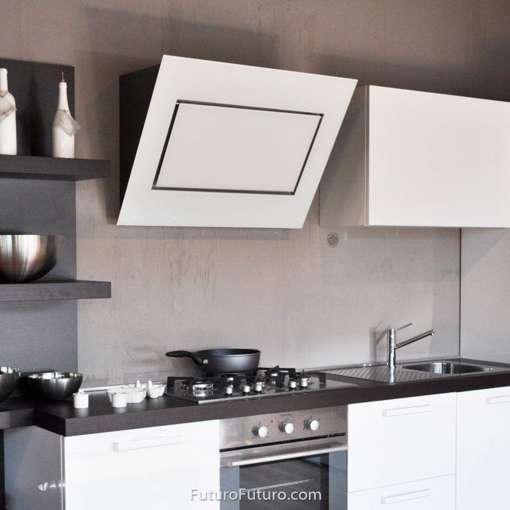 48 Quest White Wall Range Hood The Quest Series Range Hoods By Futuro Futuro Reflect The Latest Trends In White Walls Range Hood Contemporary Kitchen Design