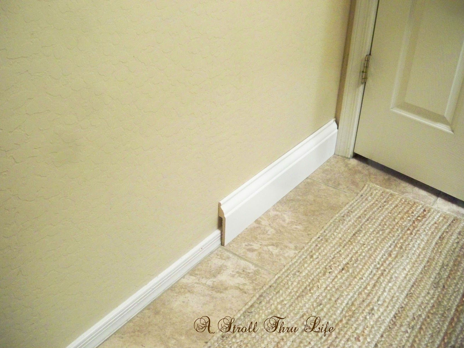 Install Wide Baseboard Molding Over Existing Narrow Baseboard ...