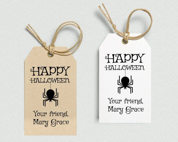 Halloween Tags Printable Tag Personalized Editable Gift Template