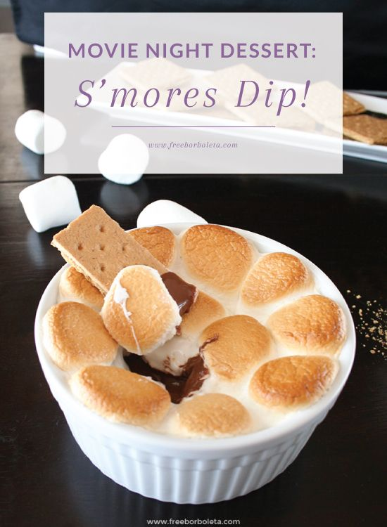movie night dessert s 39 mores dip recipes pinterest einfacher nachtisch essen und backen. Black Bedroom Furniture Sets. Home Design Ideas