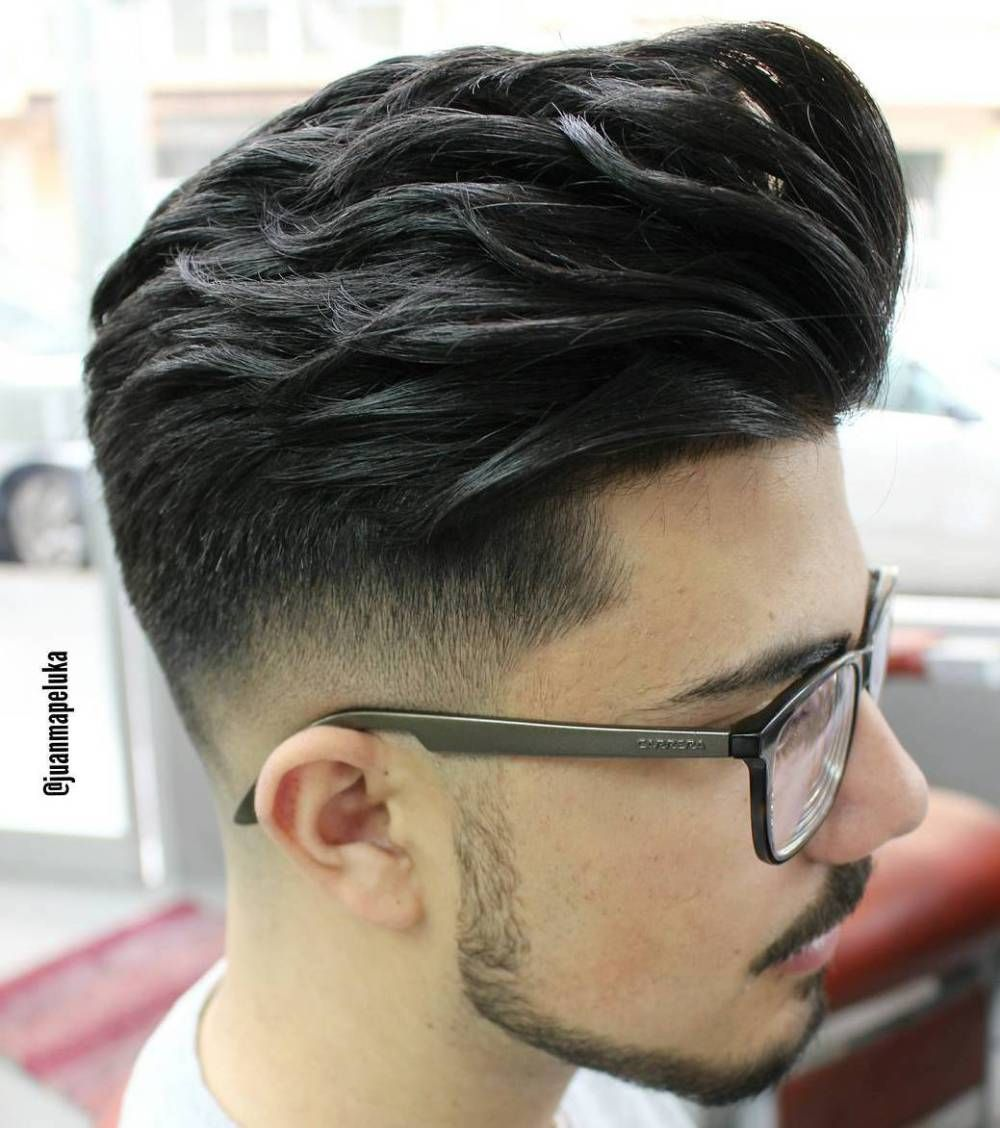 The Best Curlywavy Hair Styles And Cuts For Men Grey Faux Hawk