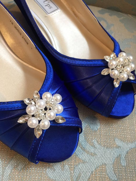 Wedge Wedding Shoes Royal Blue Shoes 1 Inch Wedge By Parisxox Wedge Wedding Shoes Royal Blue Shoes Outdoor Wedding Shoes