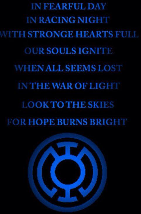 Blue Lantern Oath Lantern Oaths Pinterest Blue Lantern