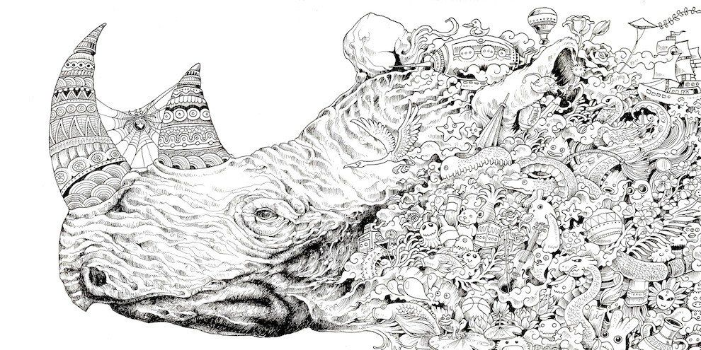 This Adult Coloring Book Will Have You Screaming Where Are My