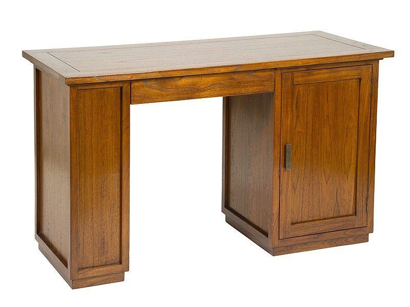 Escritorio de madera con puerta de armario una funcional - Mesas con puertas ...