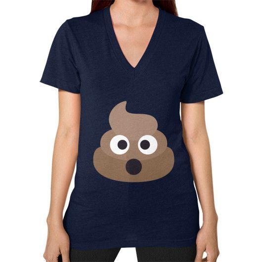 Pile of Poo Emoji V-Neck for Women