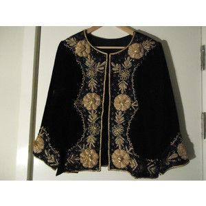 Topshop kate moss vintage gypsy Indy velvet embroidered coat jacket 6 8 10  12