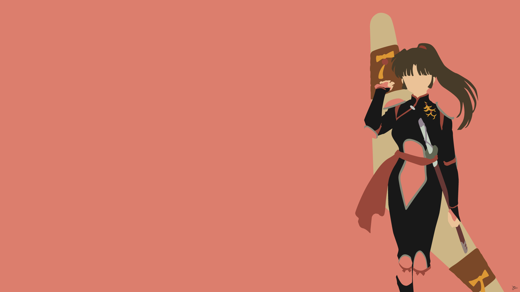 Sango Inuyasha Minimalist Wallpaper By Greenmle17 On Deviantart