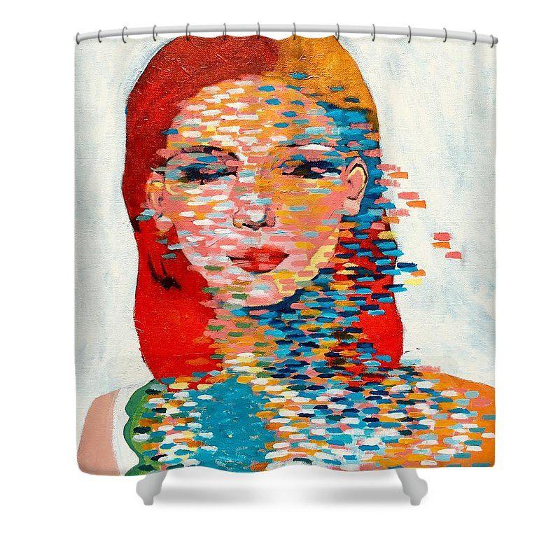 Deedee Derain Shower Curtain For Sale By Lee Wilde