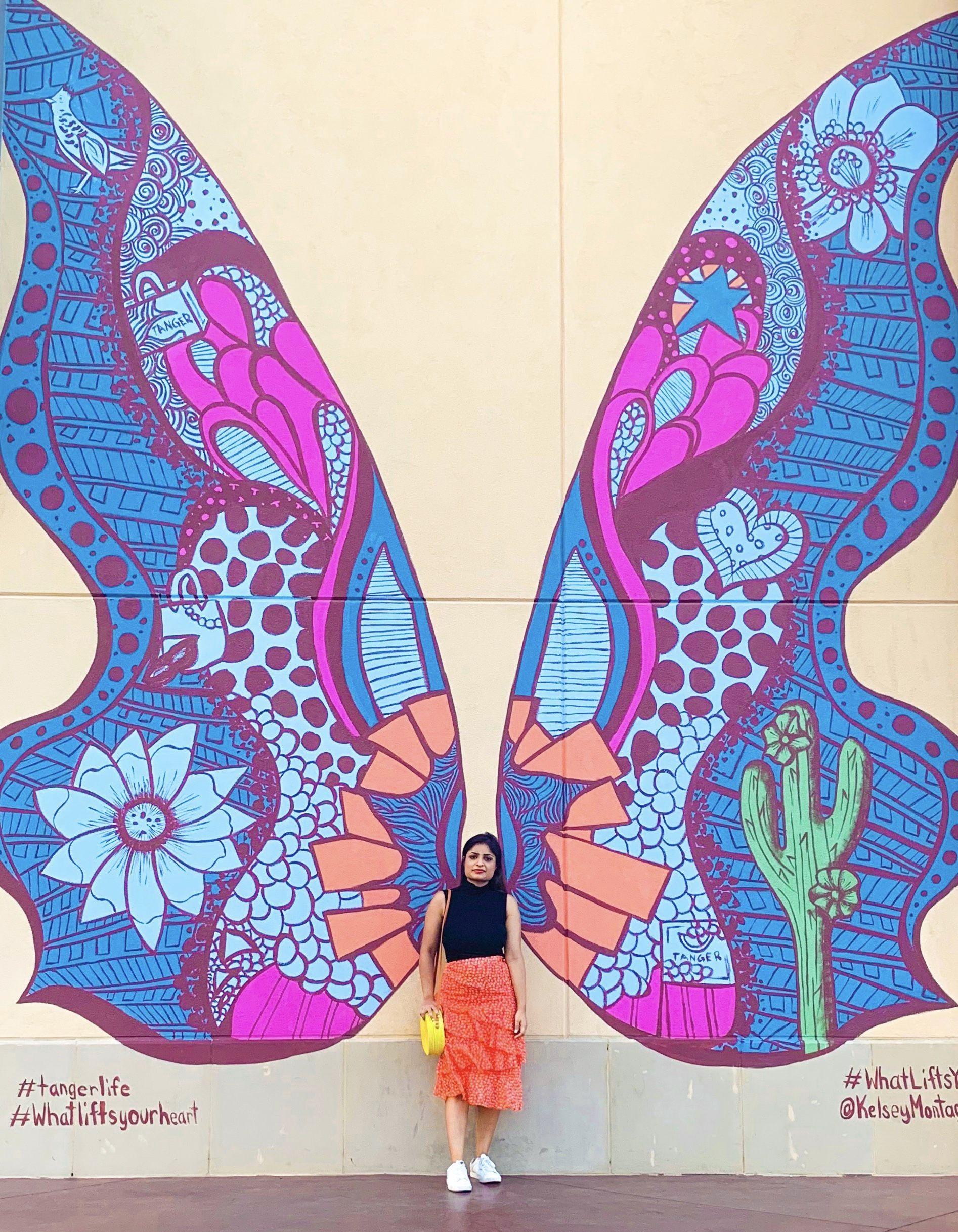 Butterfly Mural In Phoenix Az Butterfly Art Painting Angel Wings Wall Art Mural