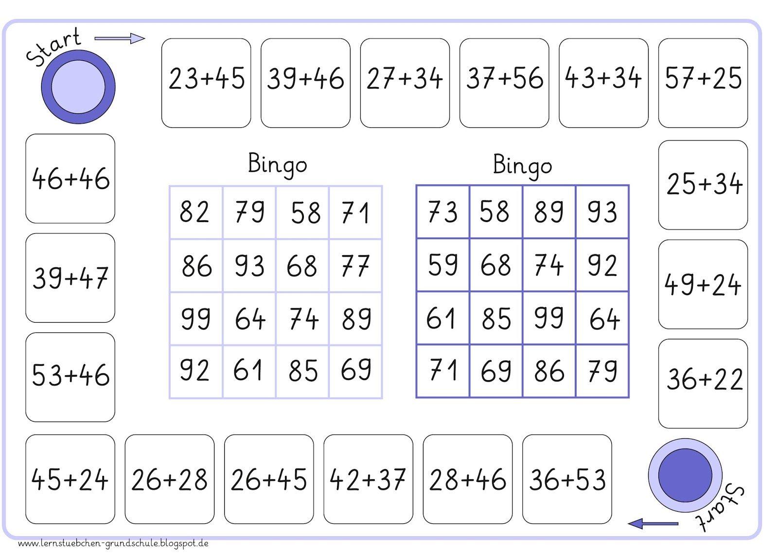 lernst bchen bingo zur addition zr 100 rund um schule mathe bingo und mathe spiele. Black Bedroom Furniture Sets. Home Design Ideas
